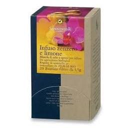 Infuso Zenzero e Limone Sonnentor - digestiva, 20 filtri