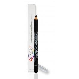 Matita Bio occhi Nero 01 puroBio - kajal ed eyeliner con principi attivi vegetali, ipoallergenico, vegan ok