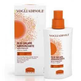 VOGLIADISOLE - Olio solare abbronzante spray per corpo e capelli SPF 30 - Helan
