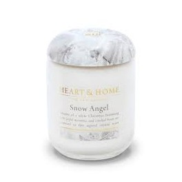 Candela in Cera di Soia Snow Angel Large - Heart&Home