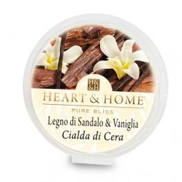 Legno di Sandalo e Vaniglia Cialda in cera di Soia - Heart & Home