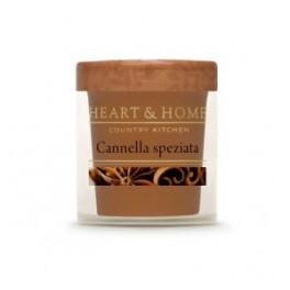 Candelina in cera di soia Cannella Speziata - HEARTH&HOME