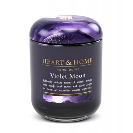Candela in Cera di Soia Violet Moon LARGE - Heart&Home
