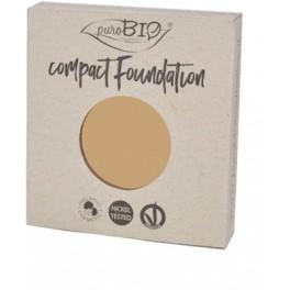 REFILL Fondotinta Compatto 04 PuroBio - Compact Foundation uniformante e matte - nickel tested, vegan e certificato CCPB