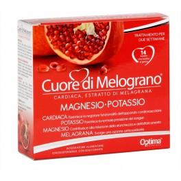 Cuore di Melograno (20% acido ellagico) + Magnesio Potassio ed erba Cardiaca 14 bustine da 3,7g