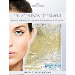 Beauty Face Collagen Mask Treatment Maschera viso Ringiovanente e migliorante della circolazione ai granelli d'oro