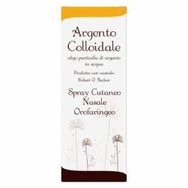 Argento colloidale Orale, Cutaneo e Nasale 40 ppm 50ML con accessori spray naso, gola e pelle