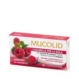 Mucolid 24 Caramelle -  Bava di Lumaca e Lampone - Farmaderbe