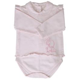 Body bimba  rosa Volpe - cotone biologico, ipoallergenico