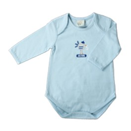 Body azzurro linea Active - cotone biologico, ipoallergenico