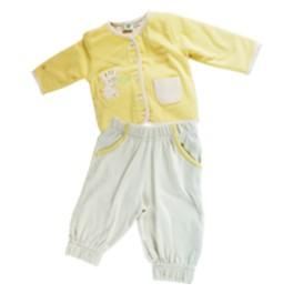 Set completo giacca gialla Tigrotto - cotone biologico, ipoallergenico
