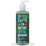 Faith in Nature Sapone Liquido Per Mani 100% Naturale - ALOE VERA & TEA TREE 300ml