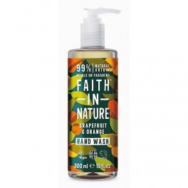 Faith in Nature Sapone Liquido Per Mani 100% Naturale - POMPELMO & ARANCIO 300ml