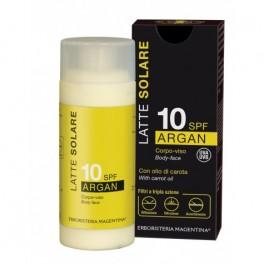 SOLARE ARGAN - Latte solare corpo e viso SPF 10 - Erboristeria Magentina