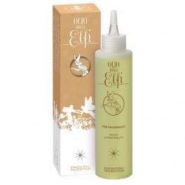 Olio massaggio Elfi, stimolante e riequilibrante, terzo chakra 150 ml - Erboristeria Magentina