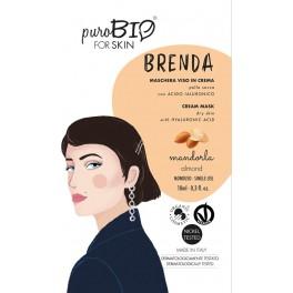 Brenda Maschera viso in crema per pelli secche alla Mandorla - PUROBIO