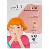 Olivia maschera viso peel off per pelli grasse al Fico   - PUROBIO