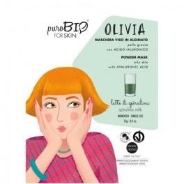 Olivia maschera viso peel off per pelli grasse al Latte di Spirulina   - PUROBIO